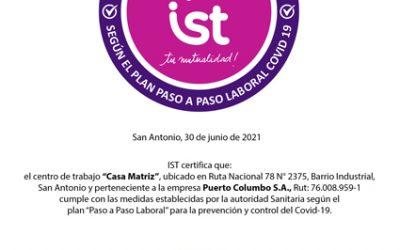 Paso a Paso Laboral COVID 19, «Centro de Trabajo Verificado» Certificación IST.